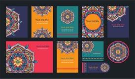 Mandalas para el libro de colorear Ornamentos redondos decorativos Forma inusual de la flor Vector oriental, modelos antiesfuerzo ilustración del vector