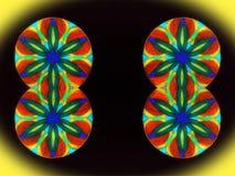 Mandalas pintadas Foto de archivo libre de regalías