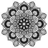 Mandalas pour livre de coloriage Ornements ronds décoratifs Forme peu commune de fleur Vecteur oriental, modèles de thérapie d'An Photos stock