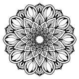 Mandalas pour livre de coloriage Ornements ronds décoratifs Forme peu commune de fleur Vecteur oriental, modèles de thérapie d'An Photographie stock