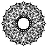 Mandalas pour livre de coloriage Ornements ronds décoratifs Forme peu commune de fleur Vecteur oriental, modèles de thérapie d'An Image stock