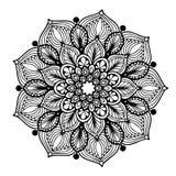 Mandalas pour livre de coloriage Ornements ronds décoratifs Forme peu commune de fleur Vecteur oriental, modèles de thérapie d'An Image libre de droits