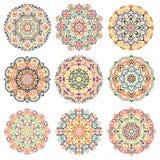 Mandalas projekta elementy Kolorowi Obraz Royalty Free