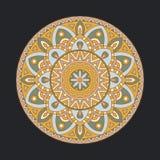 Mandalas ronds dans le vecteur Élément abstrait de conception Rétro ornement décoratif Calibre graphique pour votre conception illustration stock