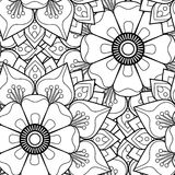 Mandalas sans couture de fleur de modèle Photo stock
