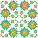 Mandalas seamless pattern Stock Photo