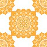 Mandalas seamless pattern Royalty Free Stock Image