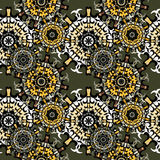 Mandalas. Seamless pattern. Vintage decorative elements. Vector illustration Stock Images