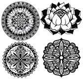 Mandalas set Stock Image