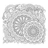 Mandalas with spiral and flowers Royalty Free Stock Photo
