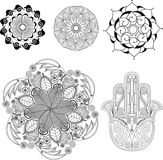 Mandalas and Spiritual Set Stock Image