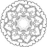 Mandalas, tirando com linhas de coloração, no fundo branco fluxo Fotografia de Stock Royalty Free