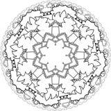 Mandalas, tirando com linhas de coloração, no fundo branco fluxo Imagens de Stock Royalty Free