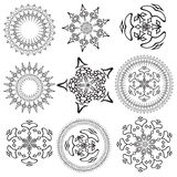 Mandalas on a white background (Vector) Royalty Free Stock Photos