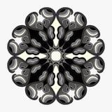 Mandalasammlung Rundes Verzierungs-Muster Dekorative Elemente der Weinlese Stockfotografie