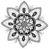 Mandalaschneeflockenmuster leicht Stockbilder