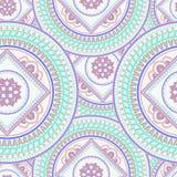 Mandalaseamlesbakgrund Arkivbilder