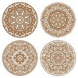 Mandalaspitzesatz Stockbilder
