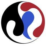Mandalasymbol der Harmonie und der Balance, Vektorgestaltungselement vektor abbildung