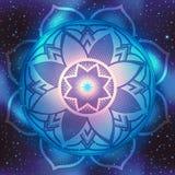 Mandalasymbol på utrymme Arkivbilder