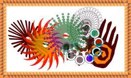 mandalateknologi stock illustrationer