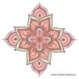 Mandalavector multicolored Stock Afbeeldingen