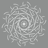 Mandalavektorillustration Rund abstrakt blom- orientalisk modell, dekorativa beståndsdelar för tappning stock illustrationer
