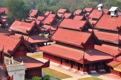 Palácio de Mandalay, Myanmar Burma Fotografia de Stock Royalty Free
