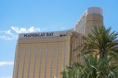 Mandalay Bay Hotel. May 25th, 2009 - Las Vegas, Nevada, USA - The facade or front of the Mandalay Bay Hotel and Casino on Las Vegas Boulevard Royalty Free Stock Photo