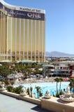 Mandalay Bay hotel and pool. Photo of Mandalay Bay's pool and hotel-casino in Las Vegas Royalty Free Stock Photo