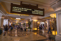 Mandalay Bay Registration area in Las Vegas, NV on April 19, 201 Stock Photography
