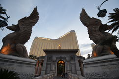 Mandalay Bay, statue, monument, gargoyle, art Royalty Free Stock Photos