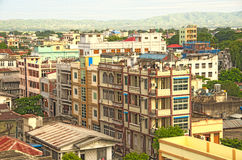Mandalay city residential buildings Royalty Free Stock Photography