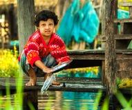 Mandalay - 5 de dezembro negociantes no mercado Imagem de Stock