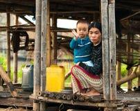 Mandalay - December 5 handelaars in de markt Royalty-vrije Stock Foto