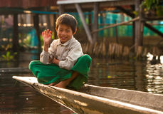 Mandalay - 5 dicembre commercianti nel mercato Immagine Stock Libera da Diritti
