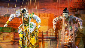 Mandalay dockateater Royaltyfri Bild