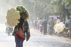 Mandalay Flower Market Stock Image
