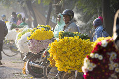 Mandalay Flower Market Stock Photo