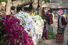Mandalay Flower Market Royalty Free Stock Image