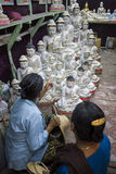 Mandalay - goods factory Royalty Free Stock Photos