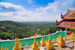 Mandalay Hill is a major pilgrimage site in Myanmar Stock Images