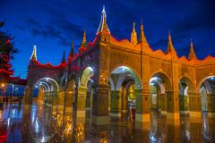 Mandalay Hill Myanmar. MANDALAY , MYANMAR - SEP 03 : Temple on the Mandalay Hill during twilight in Mandalay Myanmar on September 03 2017 , Mandalay Hill is a Stock Image