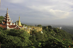 Mandalay Hill. View from Mandalay Hill Myanmar Royalty Free Stock Images