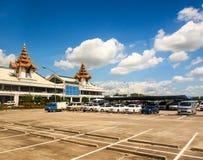 Mandalay internationell flygplats, Myanmar 2 Arkivbild