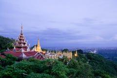 Mandalay kulle royaltyfria foton