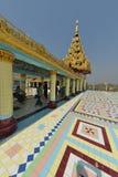 Mandalay logo U Ponya Shin Pagoda fotografia de stock royalty free