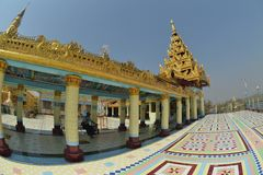 Mandalay logo U Ponya Shin Pagoda foto de stock royalty free
