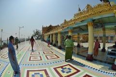 Mandalay logo U Ponya Shin Pagoda imagens de stock royalty free