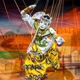 Mandalay marionetki Theatre Fotografia Royalty Free